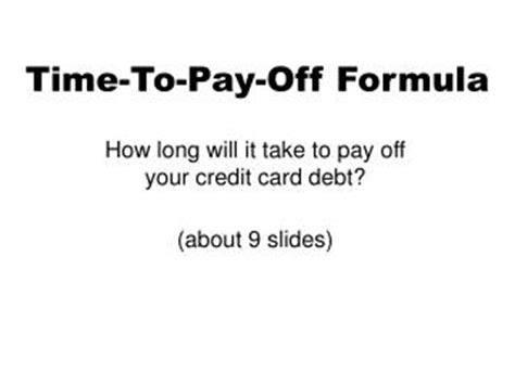 Credit Duration Formula Ppt Personal Loan To Pay Credit Card Debt Powerpoint Presentation Id 7398689