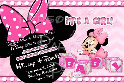 minnie mouse baby shower invitations templates baby minnie mouse baby shower invitations baby shower