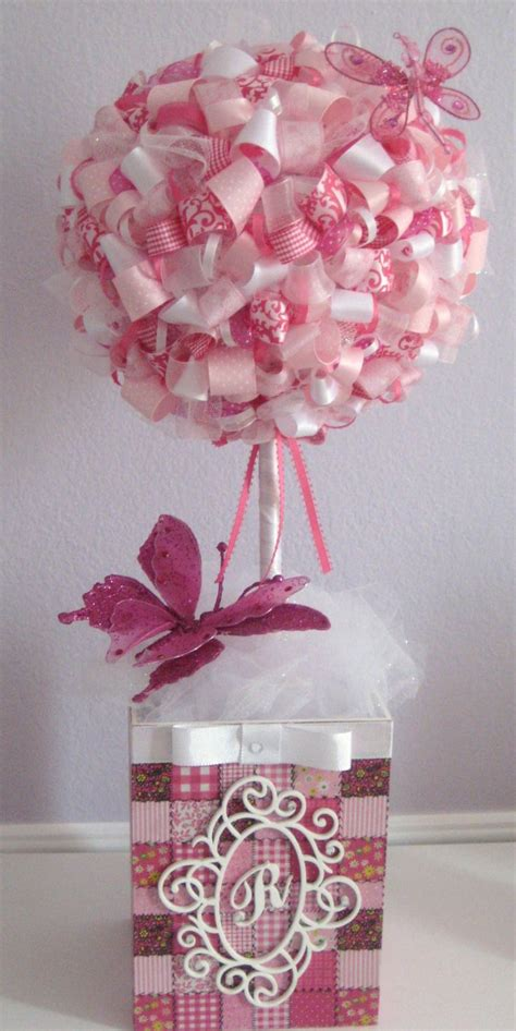 Ribbon Topiary Centerpieces - 25 best ideas about ribbon topiary on pinterest boy baptism centerpieces topiary