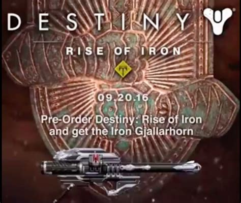 destiny rise of iron release date pre order dlc revealed technology news