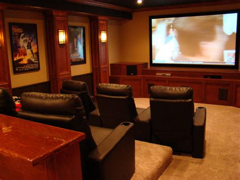 interior attractive basement home theater decoration
