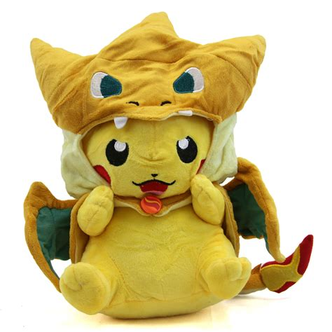 New Pikachu With X Charizard Hat Plush Soft Stuffed Animal 12 quot plush pikachu with mega charizard y hat new x y soft plushie ebay