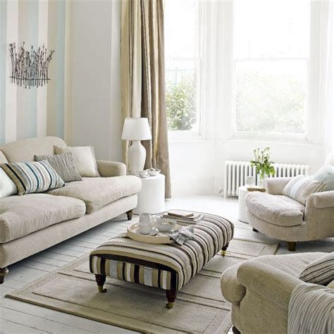 Striped Wallpaper Living Room Ideas by Pastel Living Room Living Room Decorating Ideas Striped Wallpaper Housetohome Co Uk