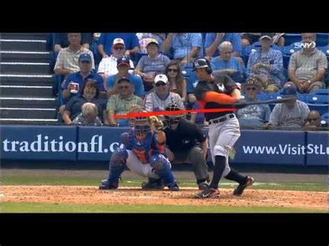 giancarlo stanton swing analysis xavier x man cruz baseball tire drill and zepp swing