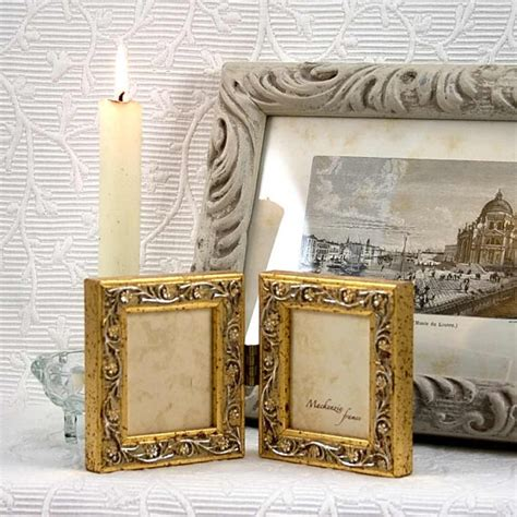 Shabby Chic Office 5710 by Gold Mini Hinged Frame Hanging Vine Pattern Wedding