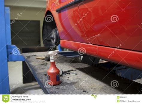 getting fixed car at mechanics stock image image 30869871