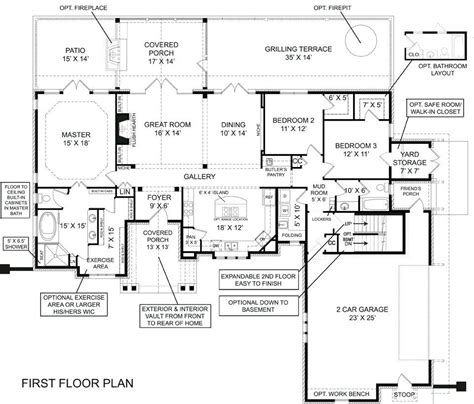house plans ranch style with walkout basement best of