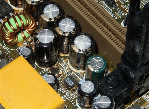 symptoms of a bad capacitor on a motherboard memory no boot without unplug user