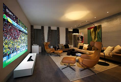 living room projector quot entertainment living room quot designed by ddc for sony 4k