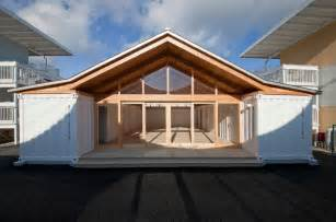Conex Box Home Floor Plans Shigeru Ban Onagawa Temporary Container Housing