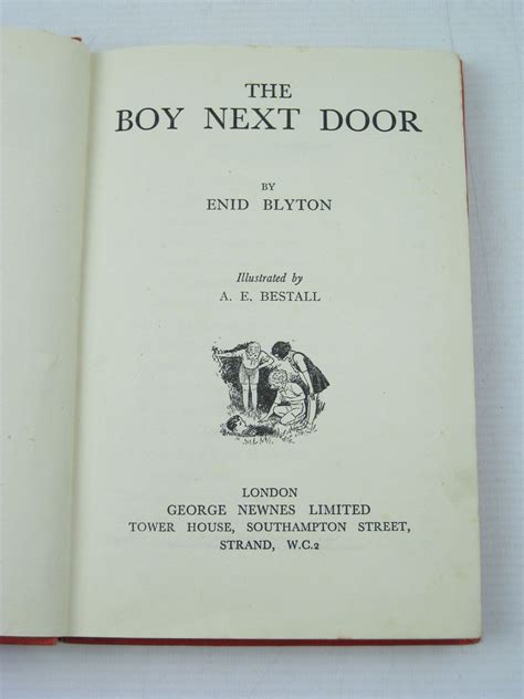 the next door books the boy next door written by blyton enid stock code