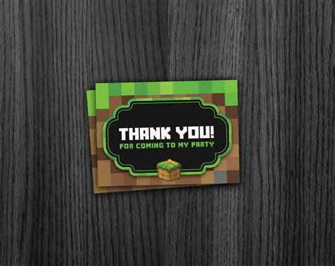 minecraft printable thank you cards phorest studio 187 minecraft thank you cards