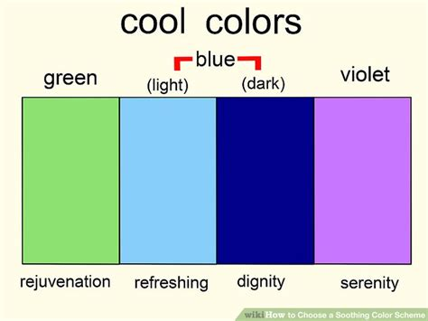 soothing color schemes 3 ways to choose a soothing color scheme wikihow