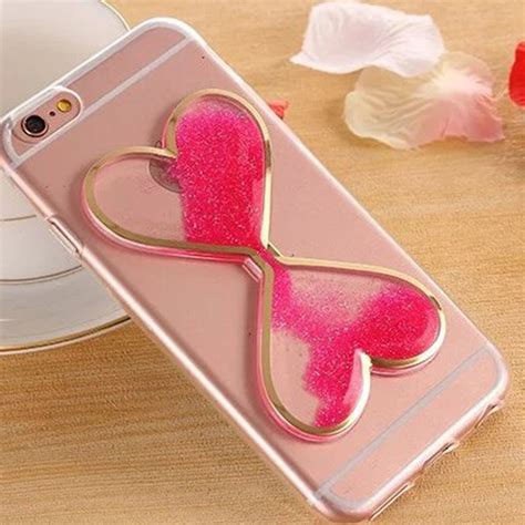 Softcase Iphone 6g Plus 6s Plus Water Glitter Ring Hello Silver bling glitter dynamic liquid clear cover for iphone 6s plus ebay