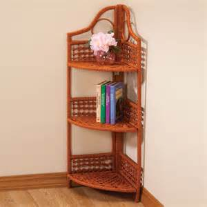 3 tier corner wicker shelf wicker corner shelf walter