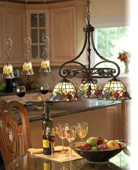 Stained Glass Island Lighting Fixtures Decoration Glass Kitchen Light Fixtures