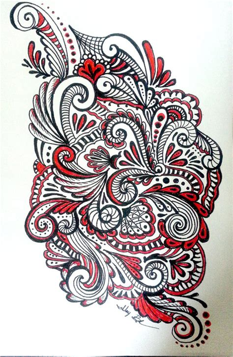 black pen doodles black paisleys original pen and ink drawing by