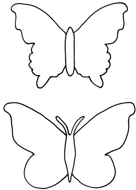 template drawing butterfly drawing template clipart best