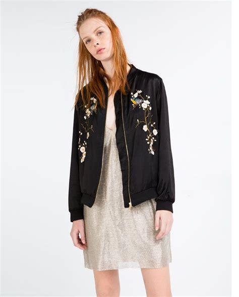 Vest Zara Set 3in1 bomber bordada flores zara bloemen and chang e 3