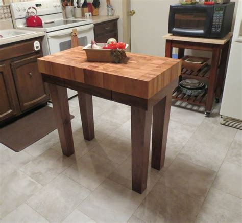 Kitchen Cooking Table Custom Made Butcher Block Kitchen Island Cart By Mcclure Tables Madeinamerica Madeinmichigan