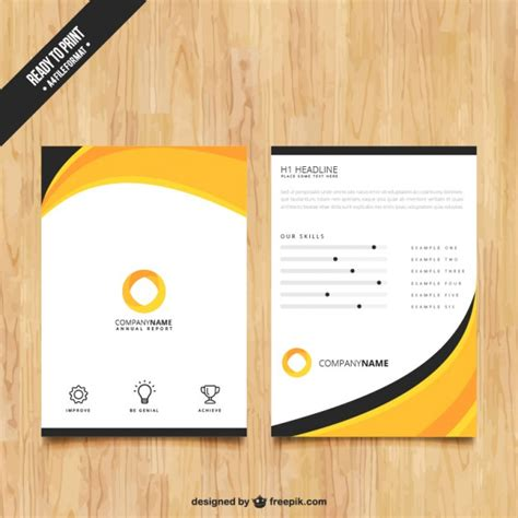 flyer and brochure templates abstract brochure template vector free
