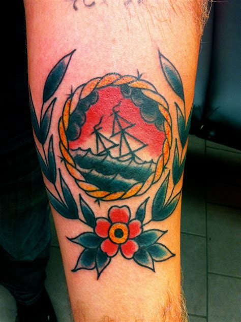 sinking ship tattoo nautical tattoos sinking ship by nick