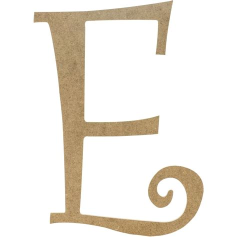 I Decorative by 14 Quot Decorative Wooden Curly Letter E Ab2149