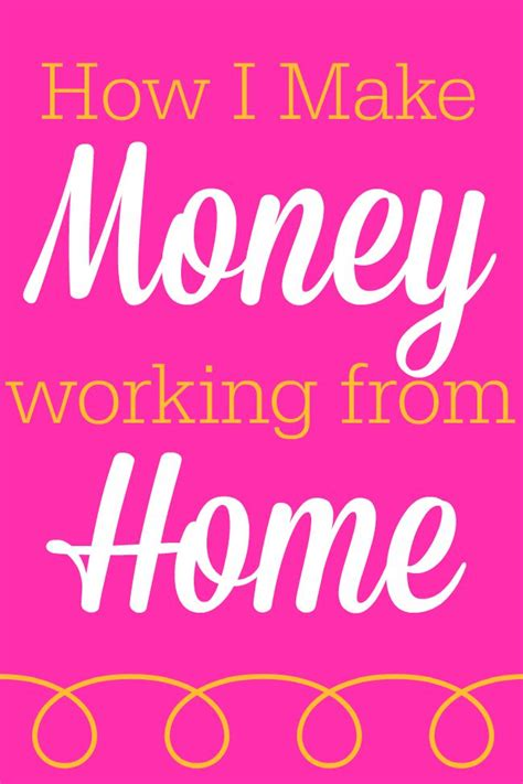 How To Work From Home And Make Money Online - how i make money working from home