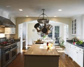Kitchen Island With Hanging Pot Rack hanging pot rack home design ideas pictures remodel and decor