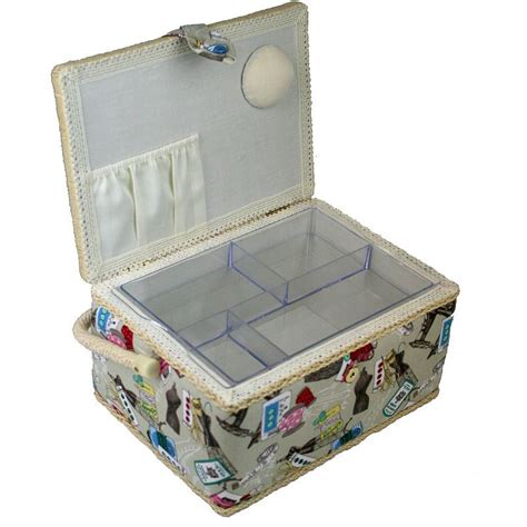 sewing pattern organizer box medium sewing box notions basket craft storage plastic