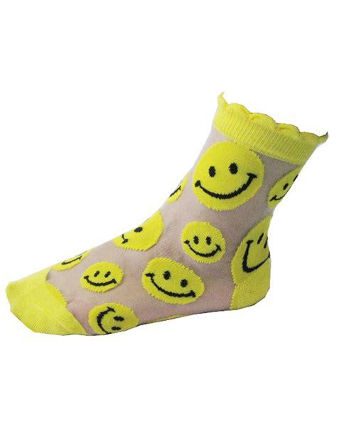 see thru socks smile