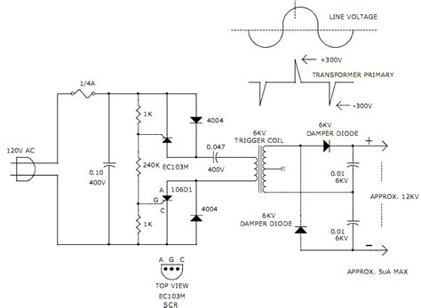12kv high voltage generator circuit diagram