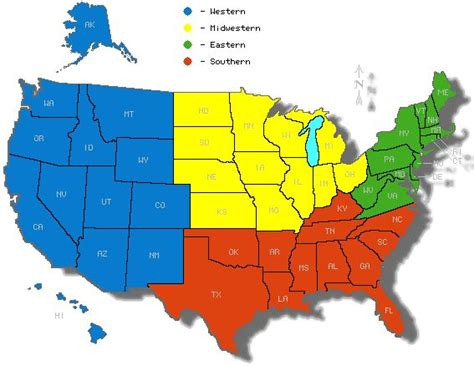 united states 5 regions map the five regions of usa lesson module the five regions