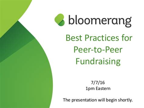 Fundraising Letter Best Practices Best Practices For Peer To Peer Fundraising