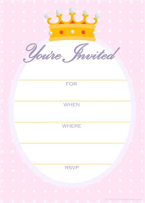 free princess invitation templates free printable invitations free invitations for a