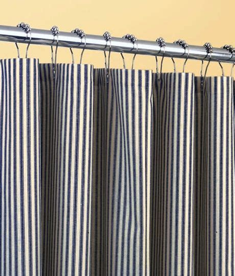 ticking curtains ticking stripes shower curtain things i want pinterest