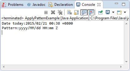 simpledateformat pattern java simpledateformat applypattern string pattern method