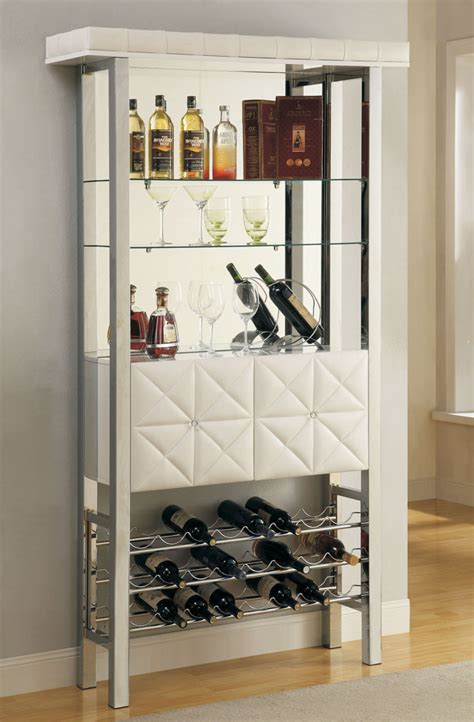 White Bar Cabinet White Finish Modern Bar Cabinet