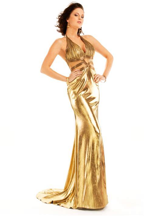 In Gold Dress golden dress fashion