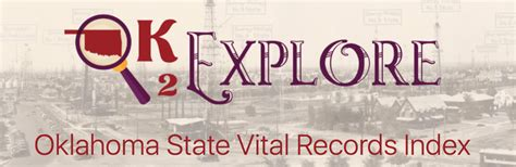 Records In Oklahoma Ok2explore Has Oklahoma Vital Records Familytree