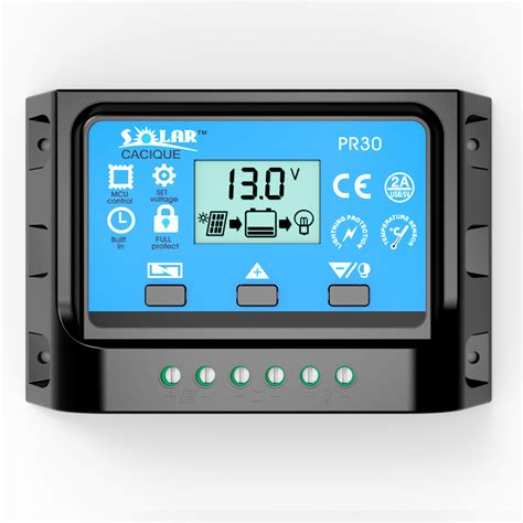 10a 12v 24v Solar Charge Controller With Lcd Display Au Diskon 10a 20a 30a 12v 24v lcd pwm solar charge controller cell