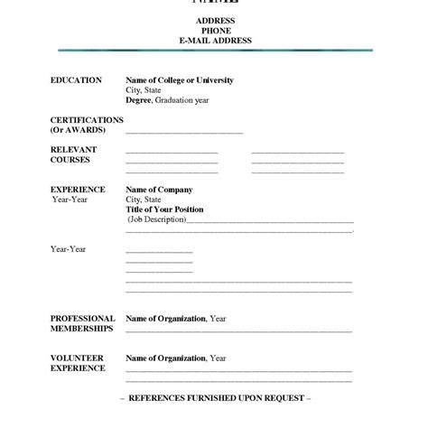 Printable Resumes To Fill Out by Magnificent Fill Out A Resume Pictures Inspiration