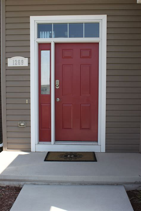 red front door sherwin williams antique red home our newly painted front door sherwin williams quot red bay