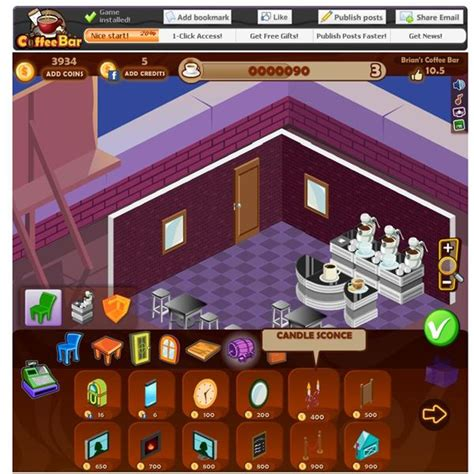 design your own coffee shop game coffee bar review cafe games on facebook
