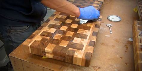 stylish cutting board  scrap wood