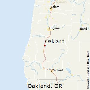 map of oakland oregon best places to live in oakland oregon