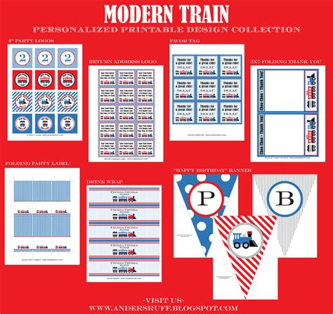 free printable train party decorations choo choo all aboard train party anders ruff custom