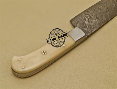 handcrafted kitchen knives damascus kitchen knife custom handmade damascus steel chef