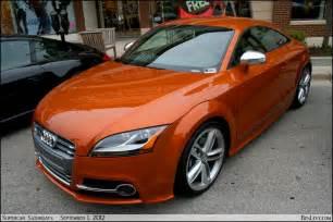 Orange Audi Tt Audi Tts In Samoa Orange Metallic Benlevy