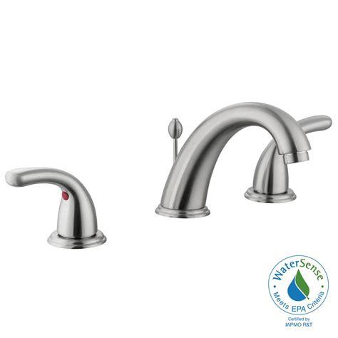 Glacier Bay Bathroom Faucets Glacier Bay Builders 8 In Widespread 2 Handle High Arc